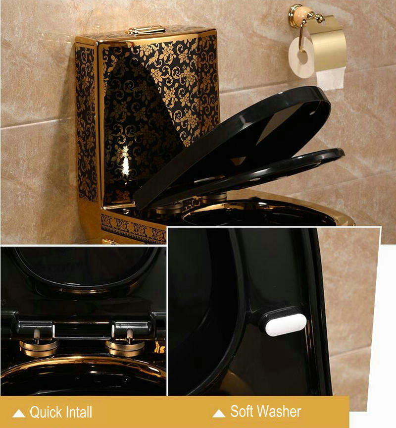 Black and Gold Toilet Gold Toilets