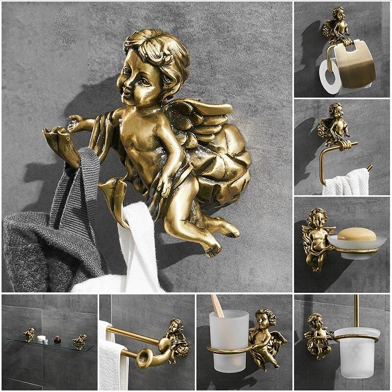 Bronze Angel Robe Hook Gold Bathroom Accessories