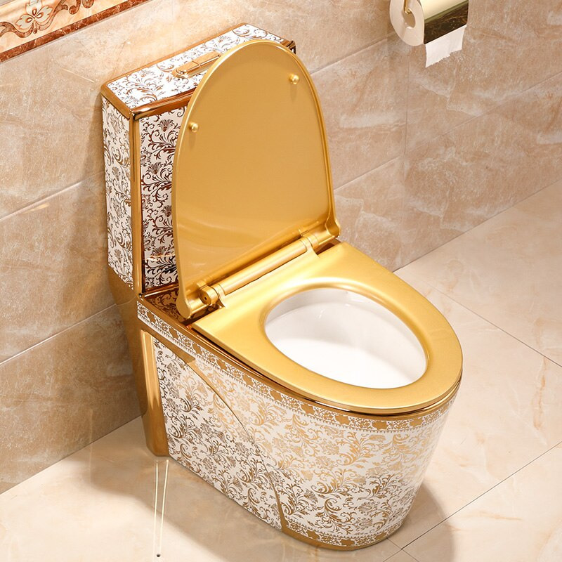 White and Gold Toilet Gold Toilets