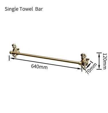 Bronze Angel Single Towel Bar Gold Bathroom Accessories