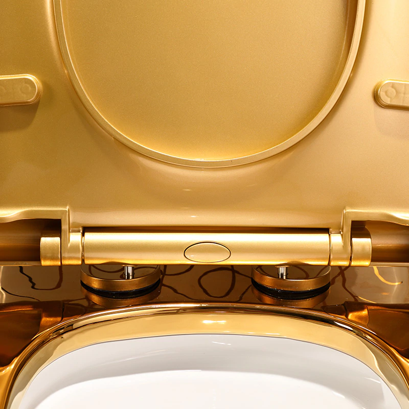 Divine Toilet With White Gold Ornaments Gold Toilets