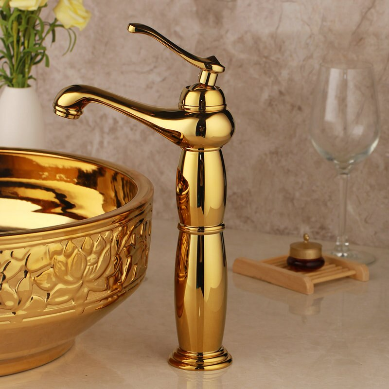 Gold Bathroom Basin Faucet Gold Water Taps & Faucets