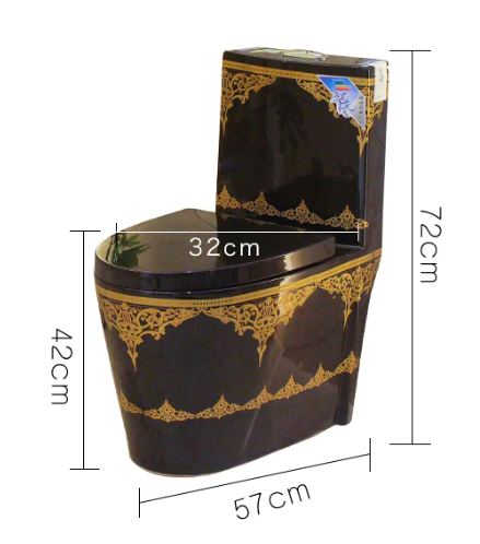 Black Toilet With Gold Ornaments Gold Toilets