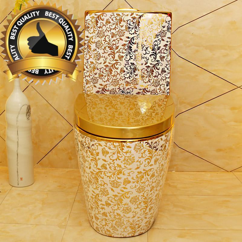 Luxury White-Gold Toilet Gold Toilets