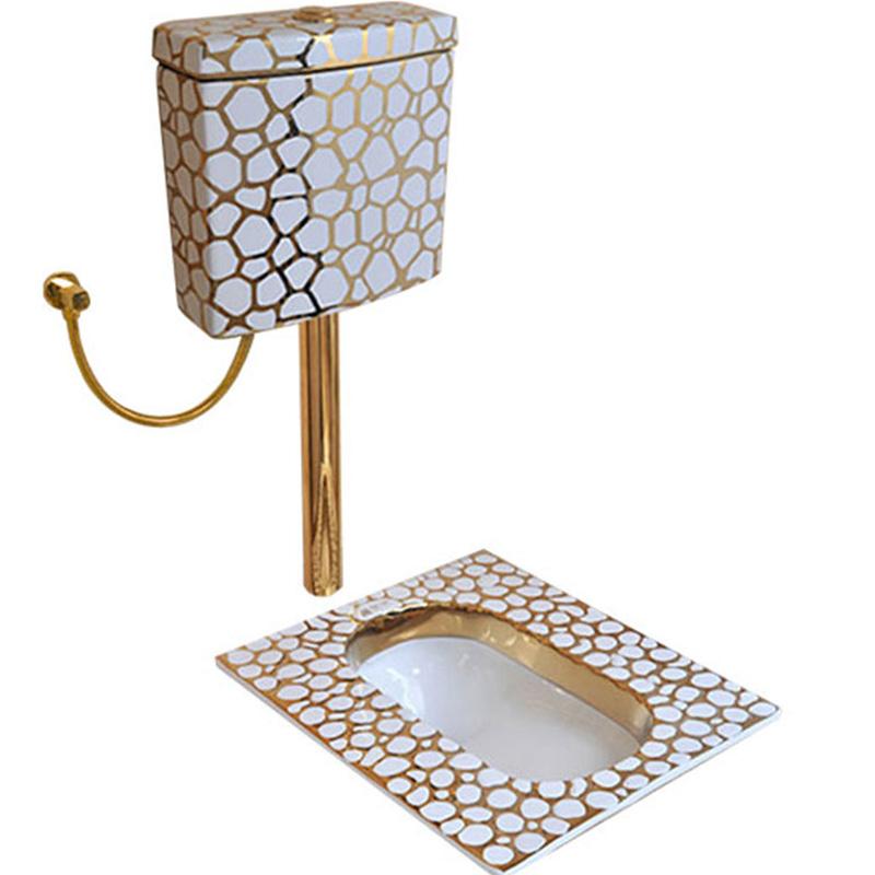 Luxorius Gold Squat Toilet Gold Toilets