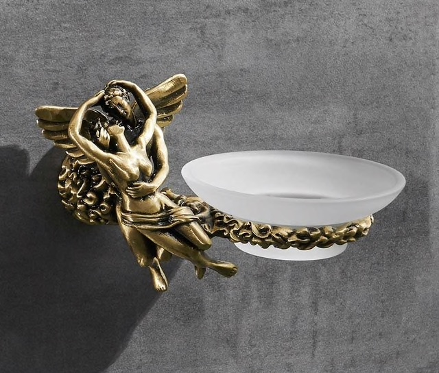 "Bronze ""Lovers"" Soap Dish Gold Bathroom Accessories"