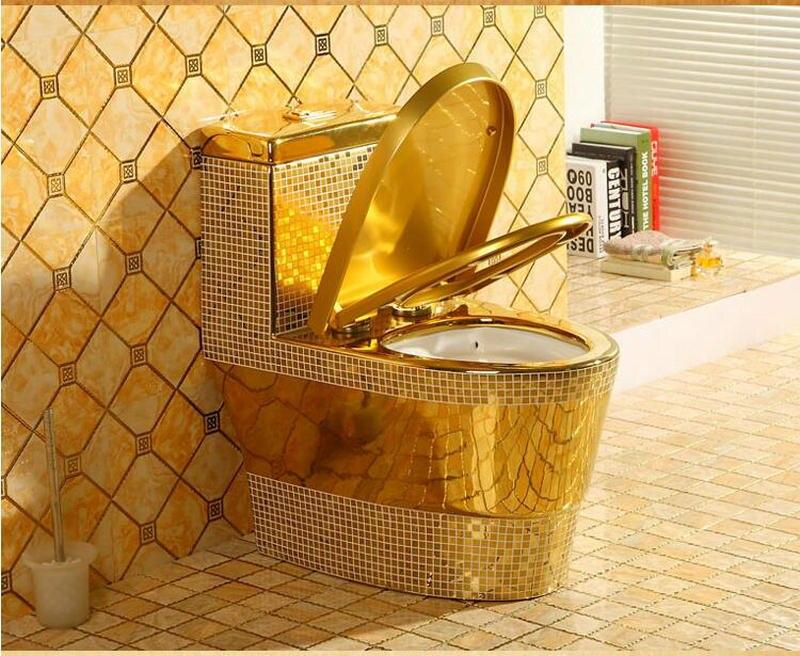 Mosaic Gold Toilet Gold Toilets