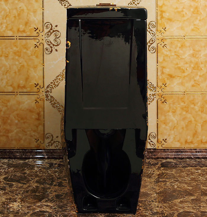 NEW 2021 Exclusive Design!! Oval Shaped Black And Gold Toilet Gold Toilets