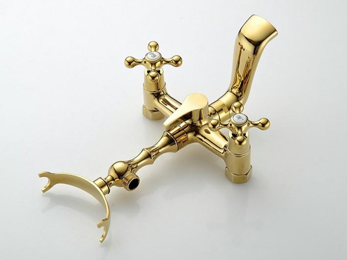 Retro Gold Bathtub Faucet & Shower Set Gold Shower Sets & Bathtub Faucets