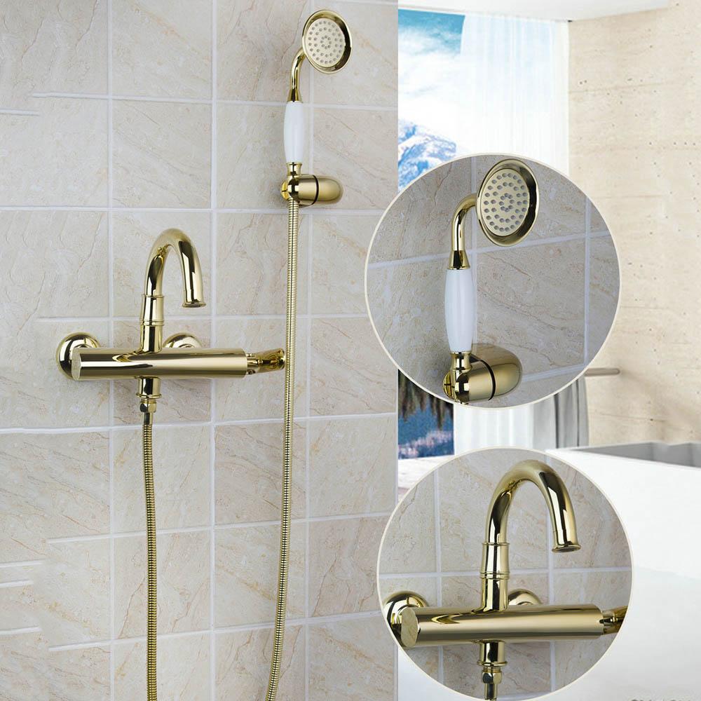 Simple Classic Gold Shower Set Gold Shower Sets & Bathtub Faucets