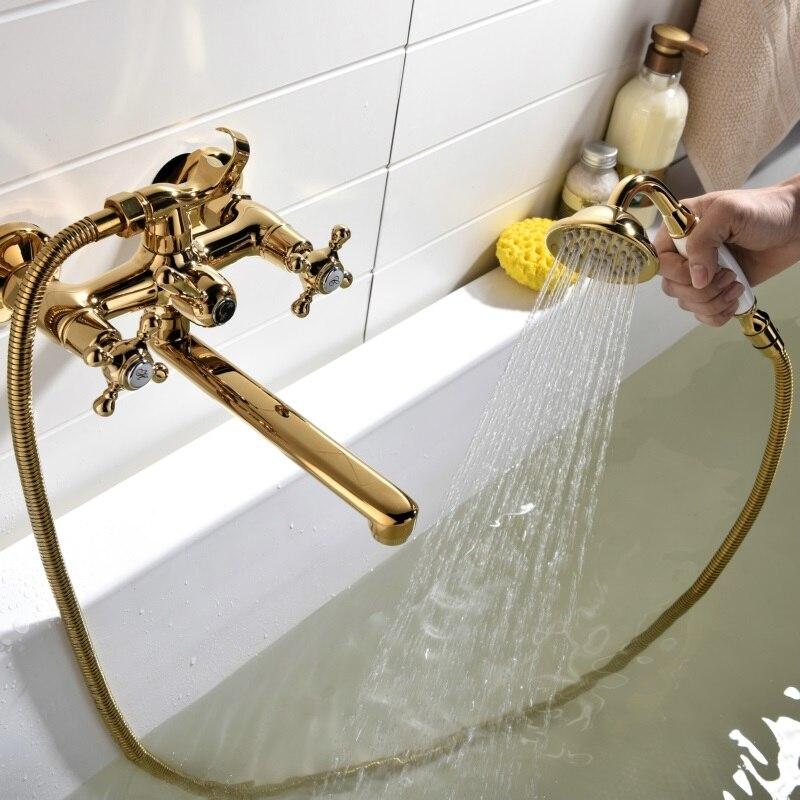 Gold Bathtub Faucet & Shower Set Gold Shower Sets & Bathtub Faucets