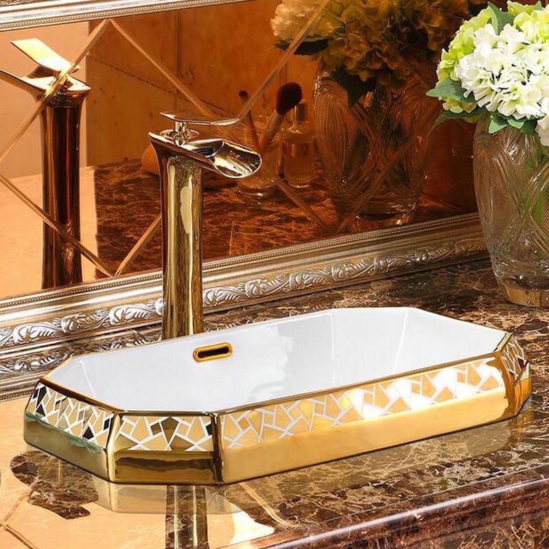Angular Gold Bathroom Basin Gold Bathroom Basins