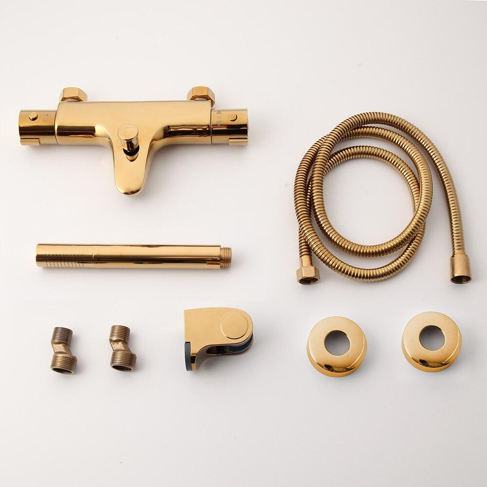 Simple Modern Gold Shower Set Gold Shower Sets & Bathtub Faucets