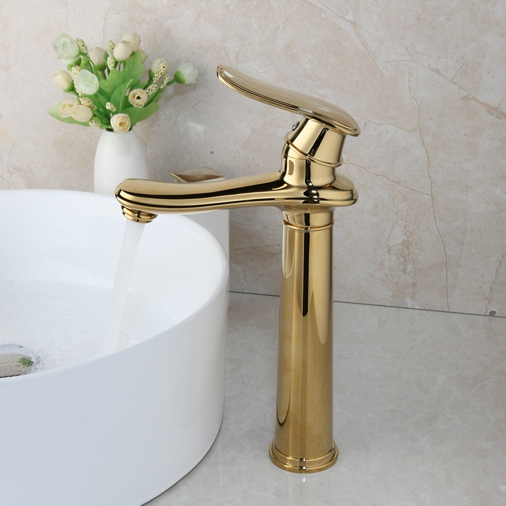Modern Gold Bathroom Faucet Gold Water Taps & Faucets