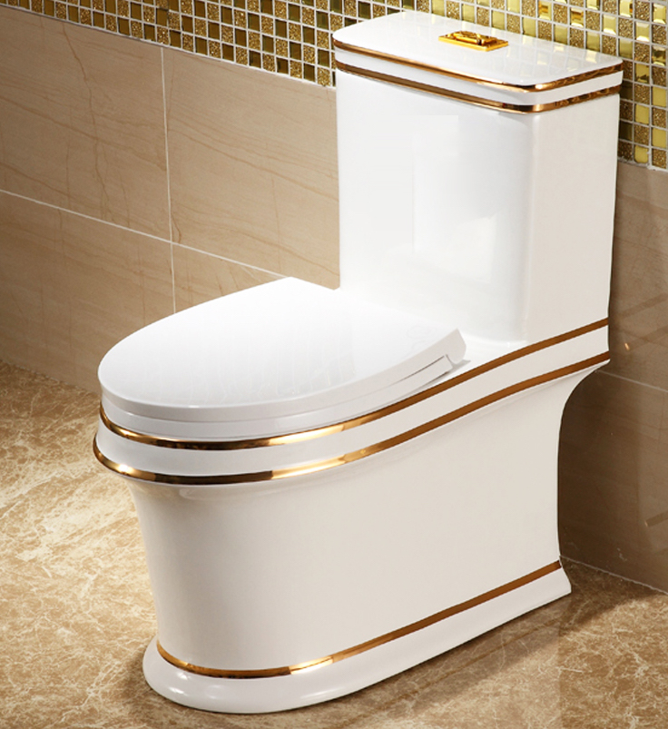 Luxury Toilet With Gold Lines Gold Toilets