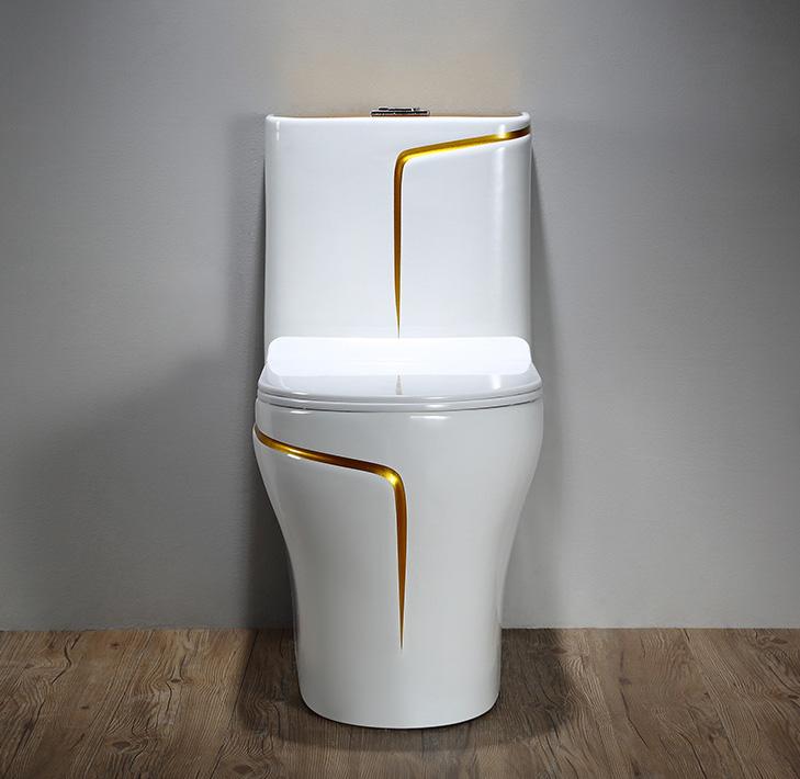 Luxury Toilet With An Elegant Gold Stripe Gold Toilets